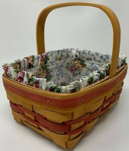 1994 LONGABERGER Mother's Day Basket Combo Liner Protector 19-1624 - $30.35