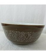 Vintage PYREX Brown Woodland Nesting Mixing Bowl # 403 2.5 Quarts Made i... - $39.55