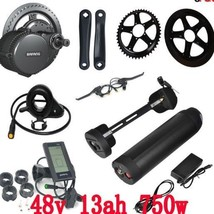 Ebike Mid Drive Crank Motor Electric Bike Kit Lithium Ion Battery Charge... - $1,081.76