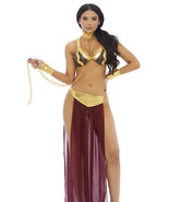 Sexy Forplay Slave For You 3pc Star Wars Leia Costume 558773 - $64.99