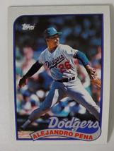 1989 Topps Alejandro Pena Los Angeles Dodgers Wrong Back Error Baseball ... - $5.00