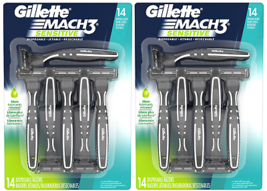 Gillette MACH3 Disposable Razor 28 ct Gillettes Best Aloe Lubrastrip Des... - $68.31