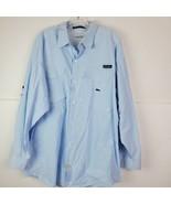 Columbia PFG Super Bonehead Mens Blue Plaid Vented Fishing LS Shirt XXL  - $39.58