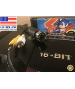 Sega Genesis Model 1 Composite Video AV Cable / RCA Cord  90-day Warranty - $7.19