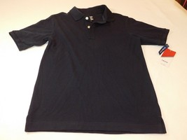 Izod Boys Polo Shirt Short Sleeve Stretch M 10/12 Husky 1046 Navy Blue u... - $16.33