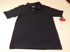 Izod Boys Polo Shirt Short Sleeve Stretch M 10/12 Husky 1046 Navy Blue u... - $16.33