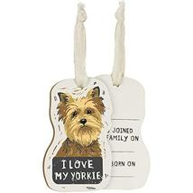 Primitives by Kathy Wooden Hanging Ornament, 2-Sided - I Love My Yorkie - $10.45