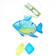 Metal & Glass Blue Green Fish Coastal Beach Ocean Marine Suncatcher Ornament image 3