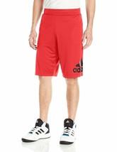 Adidas Men's Basketball Crazy Light Short Polyester Scarlet/Black, Sz XL 5272-B - $29.70