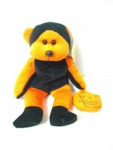 Plush Halloween Orange And Black Bear March of Dimes Bean Bags for Babie... - $11.88