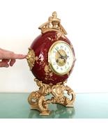 JAPY FRERES CARTEL Mantel Clock Antique Victorian RARE France Porcelain RESTORED - $1,395.00