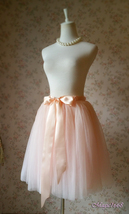 Blush Tulle Skirt Women's A Line Short knee Length Tutu Tulle Prom Party Skirts