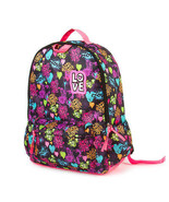 Love Graffiti Backpack Bright Multi Color Girl's School Book Bag - NWT - $28.45