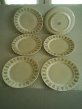 "Metlox Poppytrail Pepper Tree Dinner Plates Salad, Set Of 6, 10 ½"" - Excellent - $69.25"