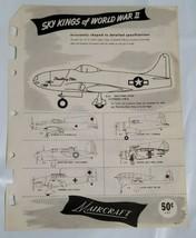Vintage 1950's Maircraft Trailblazers Model Airplanes Promotion Advertis... - $19.75