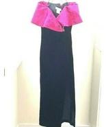 Jessica McClintock Gunne Sax Dress Size Small Velvet Prom Maxi 80's Vintage - $87.07
