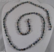 """Autumn's Sapphire"" Magnetic Hematite Fashion Lariat  - $24.00"