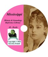 MISSISSIPPI - History & Genealogy - 48 Books on DVD, Ancestors, County, ... - $6.76