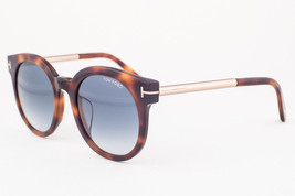 Tom Ford Janina Dark Havana / Blue Gradient Sunglasses TF435-F 52P Asian... - $195.02