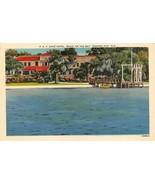 PANAMA CITY, Florida FL  COVE HOTEL Bay View~Pier ROADSIDE c1940s Linen ... - $4.85