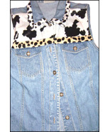 VINTAGE Denim Vest by Bill Blass 1980's  - $18.00
