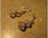 E 843 pink crystal double bead earrings thumb155 crop