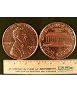 "Big 3"" Metal Coin Replica of 1972 Lincoln Memorial Penny - $109,13 MXN"