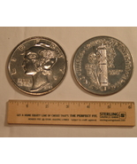 "Big 3"" Metal Coin Replica of 1916 D Mercury Hea... - €6,02 EUR"