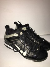 Nike Diamond Elite Metal Baseball Cleats 467983-011 Black Size 8.5 - $25.55