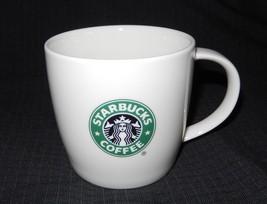 Starbucks 2008 New Bone China White Green Mermaid Logo Coffee Mug 12 Oz - $11.49