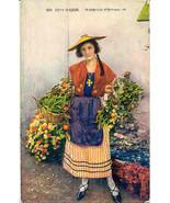 Cote D Azur Marchande d Oranges Vintage Post Card - $5.00