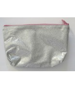 IPSY Make Up Bag Cosmetic Case Silver, Girl Meets Glitter-Forever 21, No... - $5.87