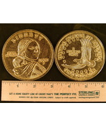 """Big 3"""" Inch Metal Coin Replica of a 2000 Sacagawea Gold Dollar - $6.75"""