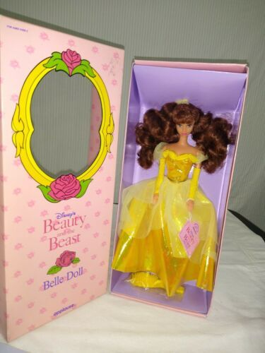 """Disney Beauty and the Beast Belle 11"""" Doll Yellow Gown Applause New Vintage 90s image 2"""