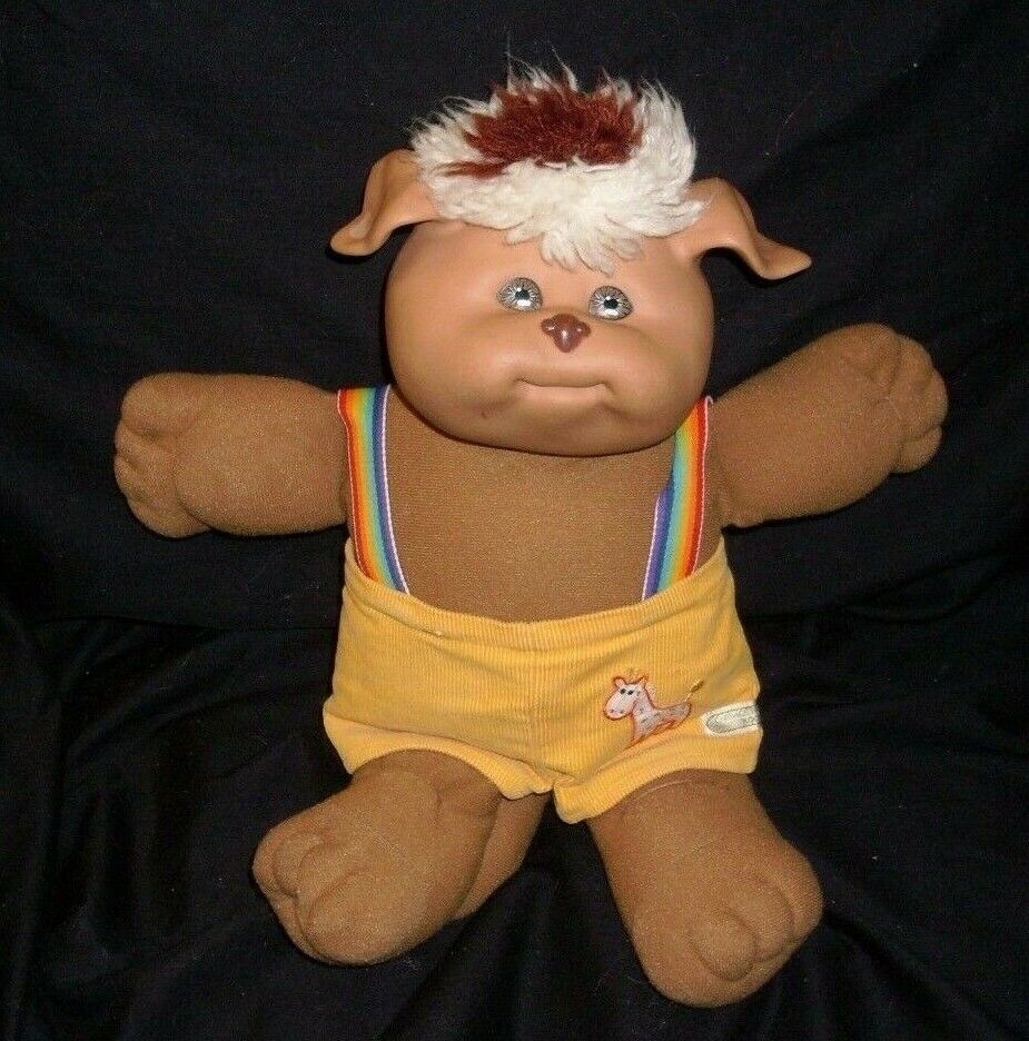 "Primary image for 14"" VINTAGE 1983 CABBAGE PATCH KIDS BROWN KOOSAS DOLL STUFFED ANIMAL PLUSH TOY B"