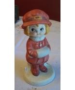 Precious Vtg Dolly Dimple Porcelain Collectible Figurine Winter Walk - $17.99