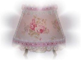 Lt Pink Ribbon Shabby Rose Chic Night Light - $17.99
