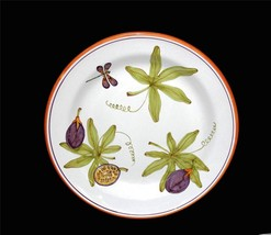 "SBERNA DERUTA Dragonfly Leaves Fruit 13"" Heavy Handpainted Platter Italy... - $34.99"
