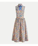 New J Crew Liberty Margaret Annie Blue Floral Sleeveless Neck Tie Shirt ... - $98.99