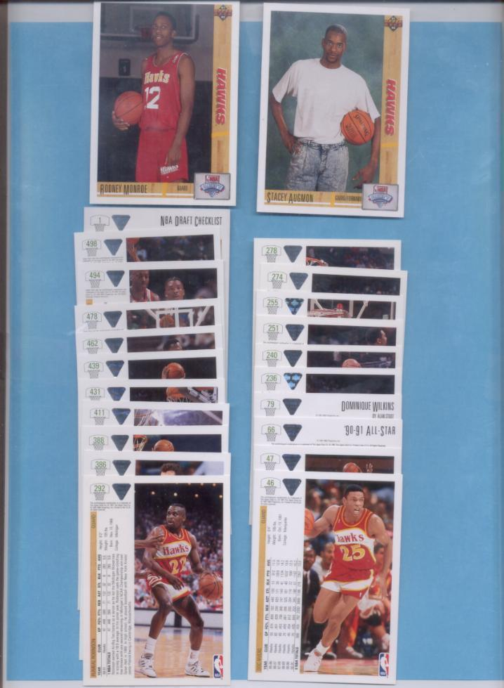 1991/92 Upper Deck Atlanta Hawks Basketball Team Set