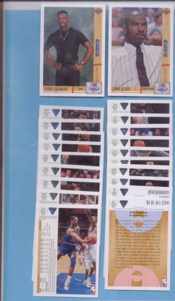 1991/92 Upper Deck Cleveland Cavaliers Basketball Team Set