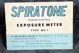 Spriatone exposure meter Type NE-1 Manual - $4.00