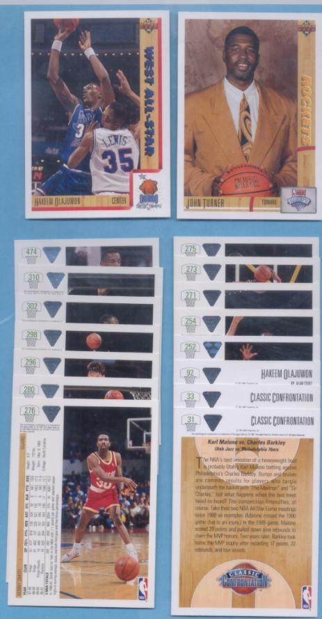 1991/92 Upper Deck Houston Rockets Basketball Team Set