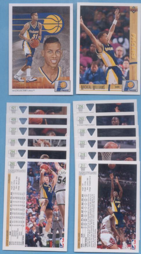 1991/92 Upper Deck Indiana Pacers Basketball Team Set