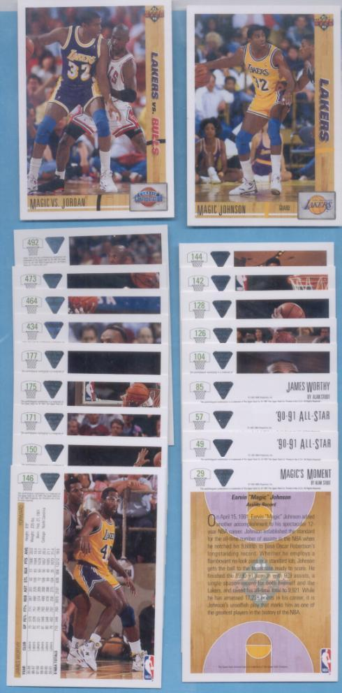 1991/92 Upper Deck Los Angeles Lakers Basketball Team Set