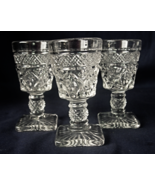 3 Imperial Glass CAPE COD Cordial Wine Cocktail Footed Glasses  - $10.00