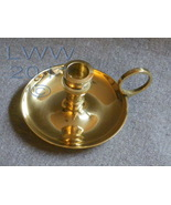 Yellow Brass Chamberstick Chime Candle Holder - $5.75