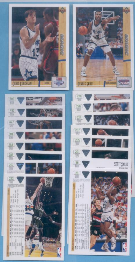 1991/92 Upper Deck Orlando Magic Basketball Team Set
