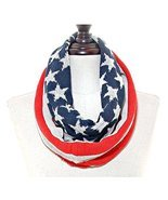 American Flag USA 4th of July Independence Day Infinity Knit Loop Scarf ... - $19.00