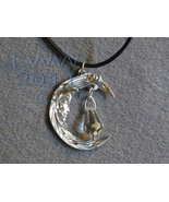 Lunar Goddess Pewter Amulet Necklace Wicca Pagan - $13.75